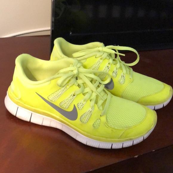 Nike Free Run Surligneur Vestes Jaunes